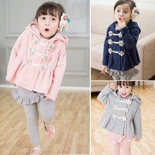 2015 New spring coat girls Floral Hoodies toddler girls' jacket with cap clothing for children girls hoodies baby & kids coat(China (Mainland))