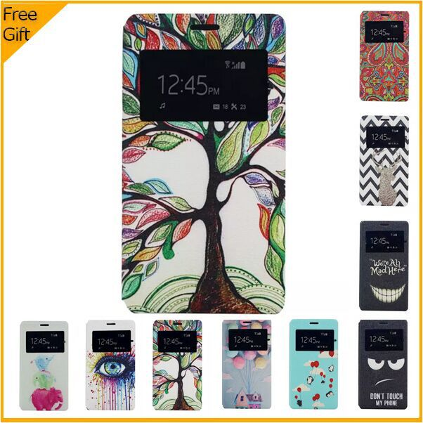 Luxury Cartoon PU Leather Flip Case Sony Xperia C4 Dual E5333 E5303 Window Cell Phone case Back Cover Stand - White Stone Technology Co.,Ltd(HK store)