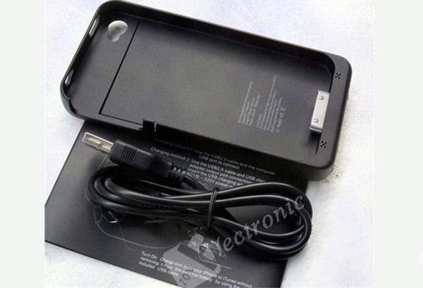 Power pack for iphone 4, Battery backup for iPhone4,external battery, 1900mAh backup battery, free shipping with tracking no.