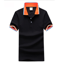 Mens POLO Shirt Polo Shirt Short Sleeve Ultra Slim Male Adolescents Spell Color Sports Lapel Tough Wear Wrinkle Breathable