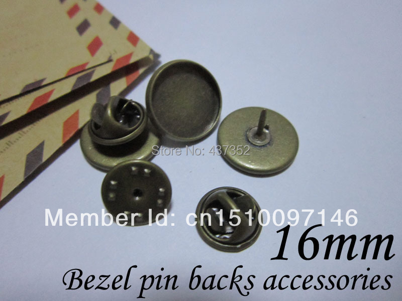 wholesale 500piece/lot Antique bronze 16mm cameo base bezel blank brooches, butterfly collar clip pin backs<br><br>Aliexpress