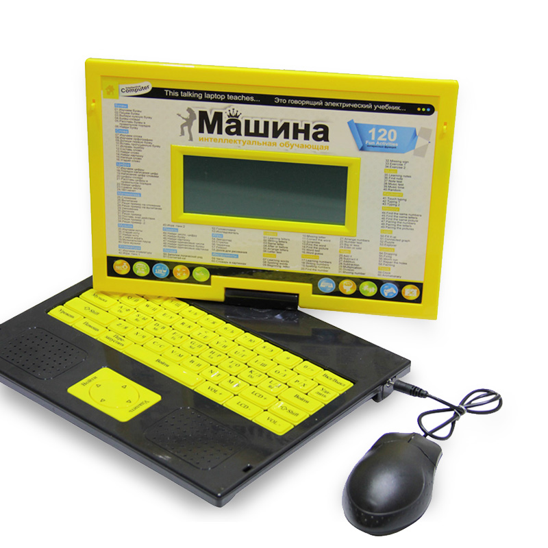 Laptop Learning & Education Computer High Quality Russian and English Language Kids Early Learning Machine Educational Toys!!!(China (Mainland))