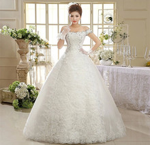 Free shipping 2015 new design high quality wedding dress white princess wedding gown fashion sexy wedding dresses HS595(China (Mainland))