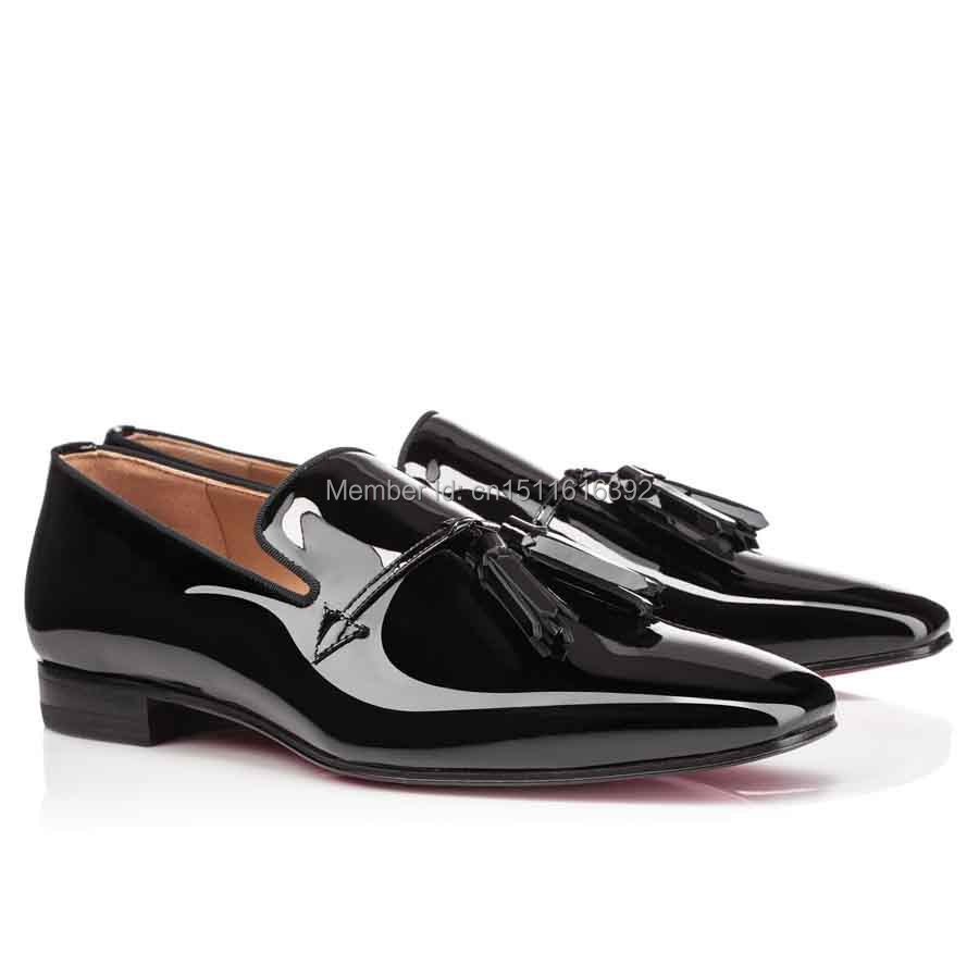 Black Patent Leather Mens Casual Shoes