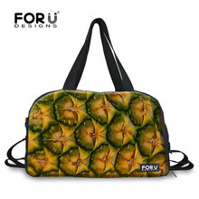 2016 fashion women Travel bolsa feminina Durian watermelon Kiwi picture Travel Check travel bag female duffle bags FORUDESIGNS(China (Mainland))