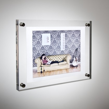 (GT4157-6inch) Plastic Acrylic Picture Photo Sheet Plexiglass Poster Display Frame Wall Mounting Holder Stand(China (Mainland))