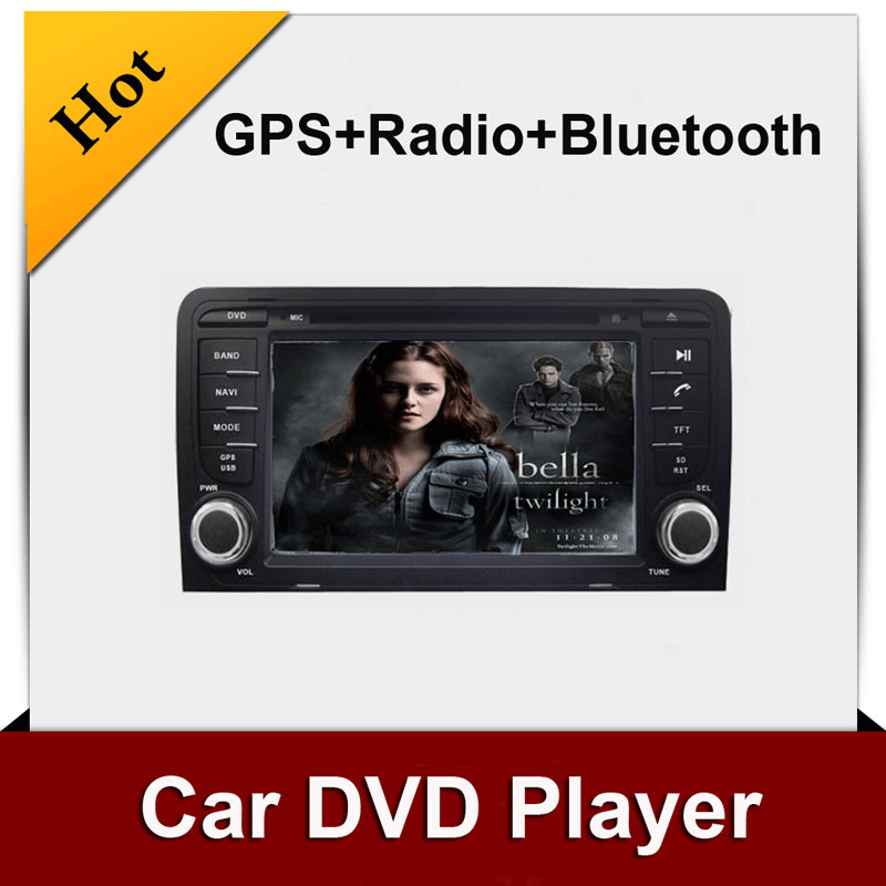 Double 2 din car dvd player gps Navigation for A3 Stereo Radio Audio Bluetooth In dash Car Electronics(China (Mainland))