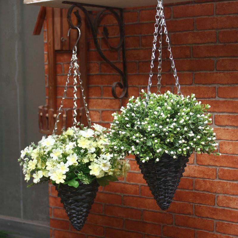 Hanging Flower Baskets Supplier : Aliexpress buy artificial flower set basket