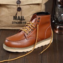 Martin shoes male fashion men autumn winter boots Britain Best quality Genuine leather high boots Korean