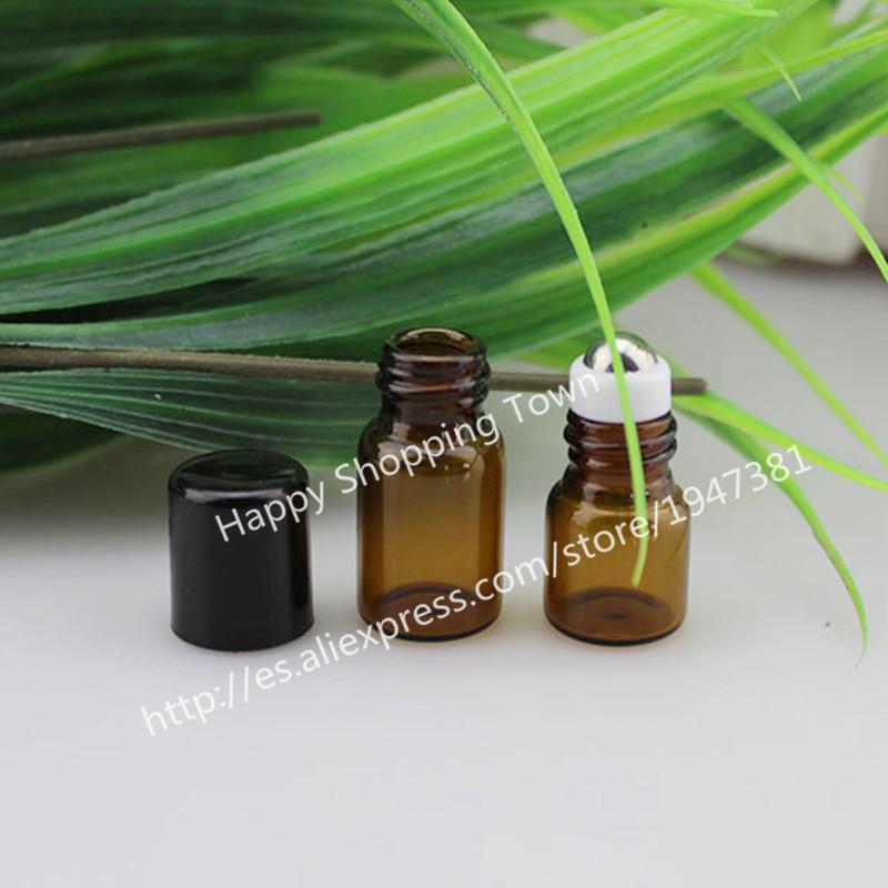 Free Shipping 10x2ml Slim Amber Tube Glass Roll-On Fragrance Perfume Bottles,Refillable & Portable 2ml Perfume Roll On Bottle