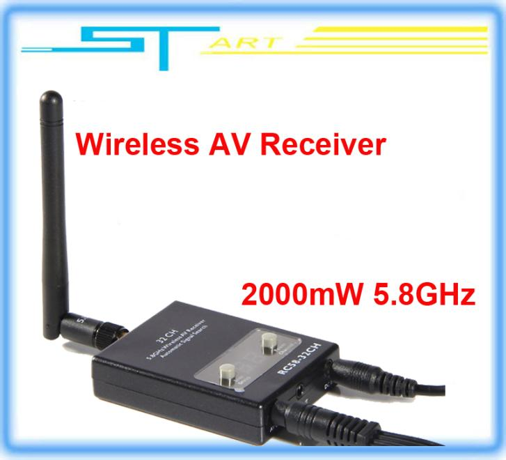 2014 new version FPV RC58-32CH 2000mW 5.8GHz Wireless AV Receiver Auto Signal Search for TX58-2W rx RC helicopter Dr classic toy