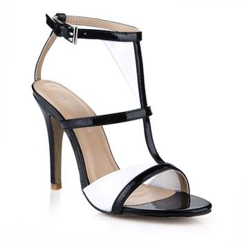 Большой размер 35-43 гладиатор на высоких каблуках сандалии женщин 2015 лодыжки пряжкой тонкие каблуках 10 см высокие сандалии рим стиль высокий каблук сандалии DR083