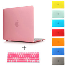 Free Shipping Rubberized Crystal/Matte Hard Laptop Case Cover For Macbook Pro 13 15 Retina Air 11 13+ Keyboard Cover(China (Mainland))