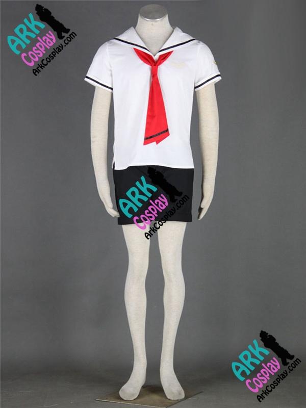 Sakura Card Captor Liyaoran Cosplay White Japanese School Mens Summer Uniform Costume