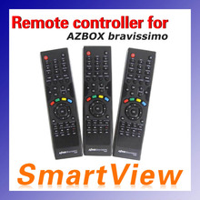 free shipping satellite receiver Azbox bravissimo Remote Controller 1pc(China (Mainland))