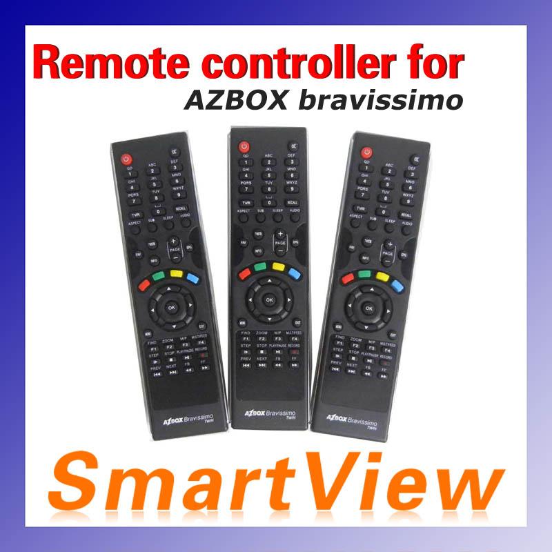 free shipping satellite receiver Azbox bravissimo Remote Controller 1pc(China (Mainland))