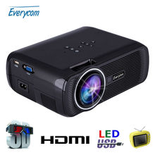 Original Everycom X7 Mini Projector Full Hd 1080p Video LED Projector 1800 Lumens Hdmi Home Theater LCD TV Beamer Multimedia USB(China (Mainland))