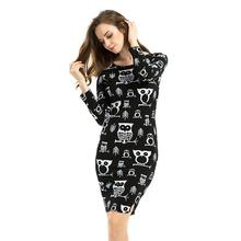 Buy 2017 Pattern Womens Winter Dress Sexy Bodycon Party Dresses Vintage Dress Vestidos Plus Size 6XL O-neck Long Sleeve for $9.63 in AliExpress store