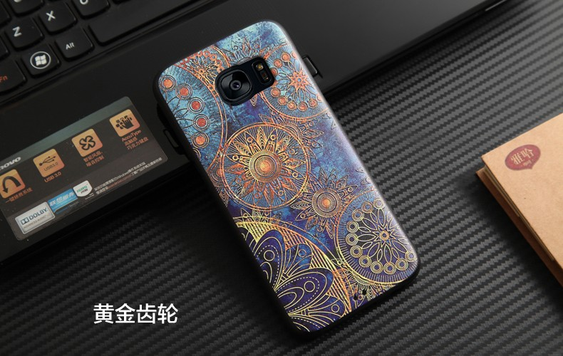 For Samsung S7 Edge Case Soft TPU Silicone case 3D Relief Painting Back Cover Case For Galaxy S7 Edge For Samsung G9350 Cases