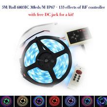 DC12V 5m 150LED IP67 Waterproof 6803 IC SMD 5050 RGB dream magic color LED Strip+133 Program RF controller(China (Mainland))