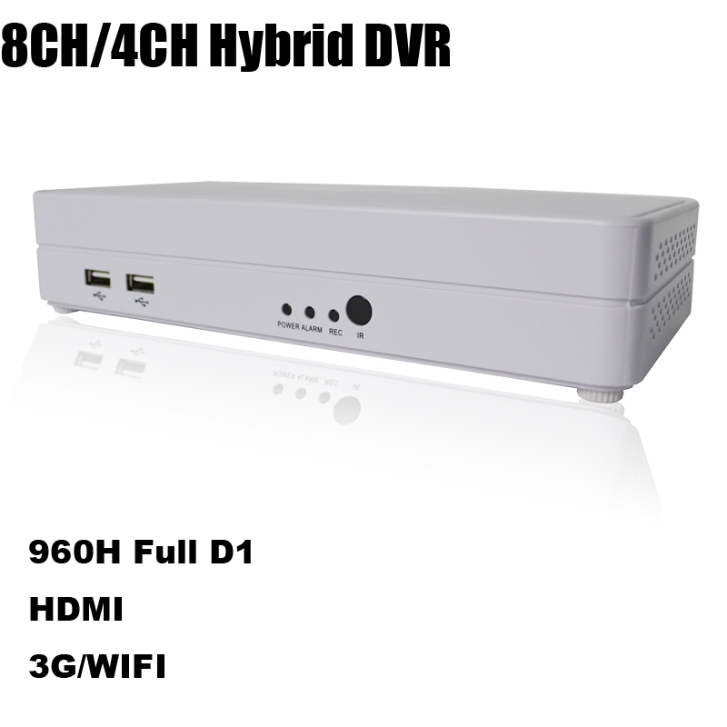 Super Mini DVR 8 channel real-time recording 960h full D1 ONVIF Hybrid security video recorder ecloud HDMI home surveillance 8ch(China (Mainland))