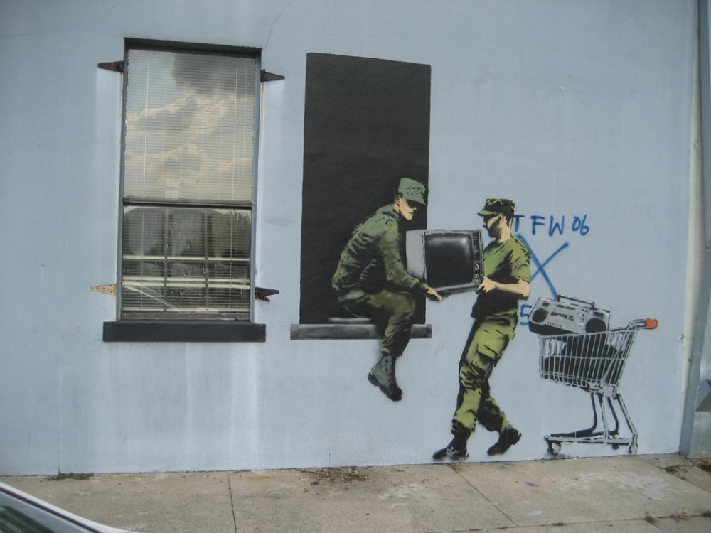 """Banksy Peace Art Graffiti Artist Fabric Poster 32"""" x 24"""" 17""""x13""""--012(China (Mainland))"""