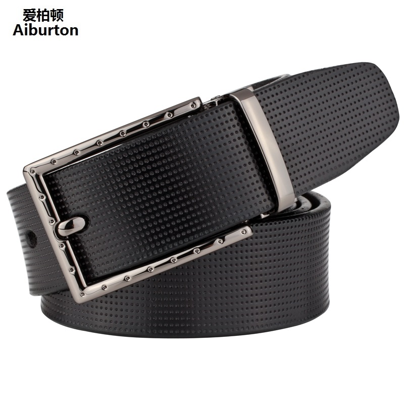 Man Belts Brand Leather Luxury Big Buckle Formal Style ceinture homme Brown Coffee 125cm men belt cinturones hombre Unisex Strap(China (Mainland))