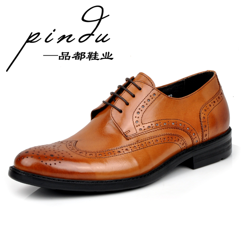 2013 men's spring fashion carved fashion commercial shoes brockden comfortable leather shoes formal leather cutout male(China (Mainland))