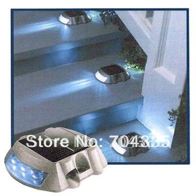 2PC/ LOT,Solar Gardening lighting,solar aluminium signal lamp, solar road stud +6LED constant White Bulbs,,<br><br>Aliexpress
