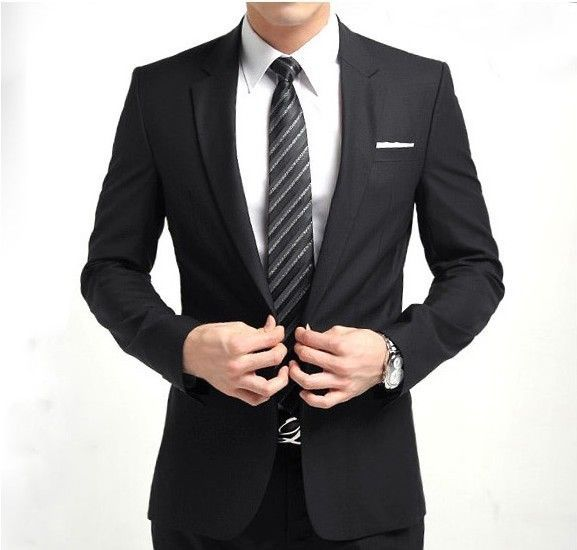 Fashion Men's Slim Suit Man Wedding Suits Tuxedo Business Suit Set Casual One Button Fit Suit Jacket+pants white black blue grey