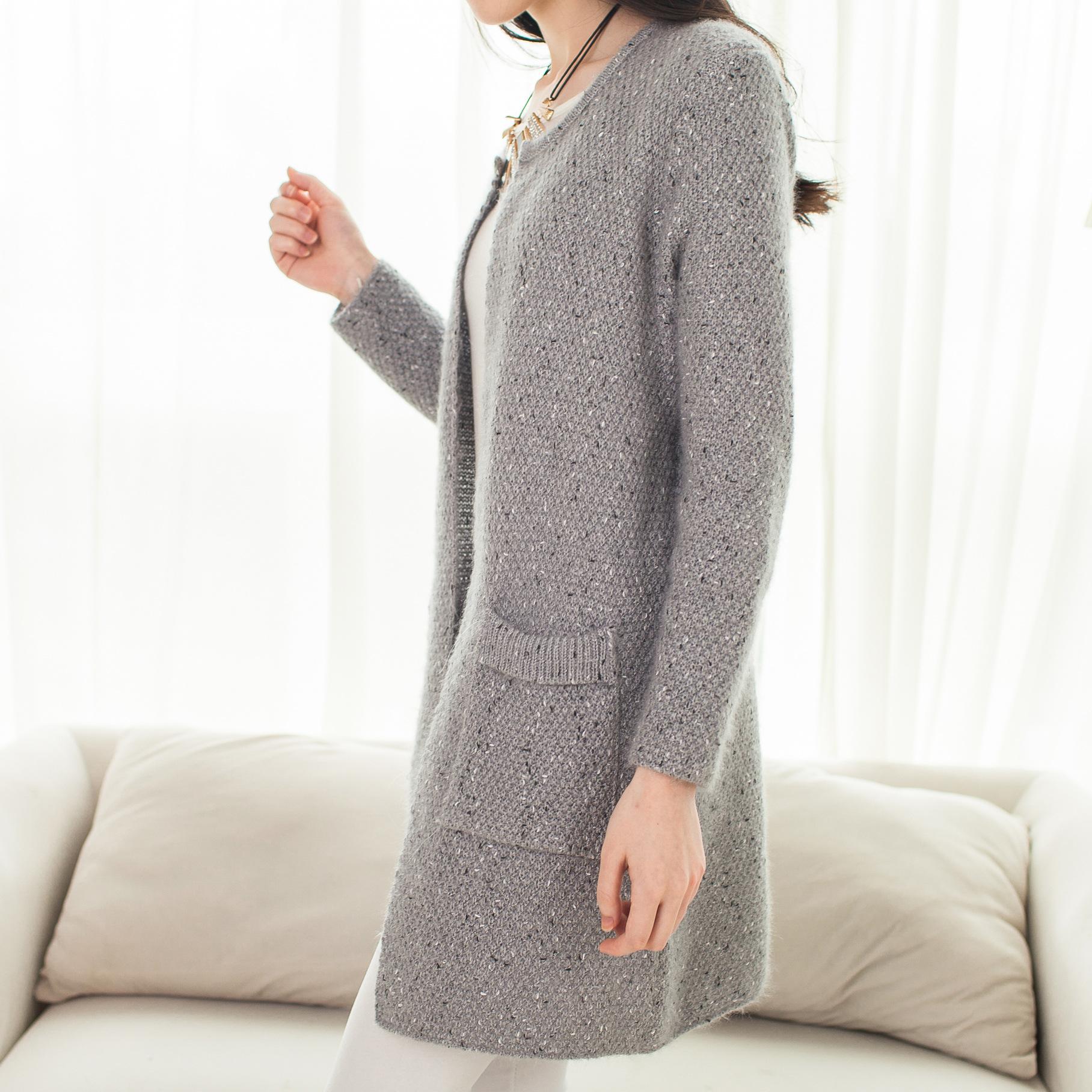 Long Gray Sweater Coat - Coat Nj