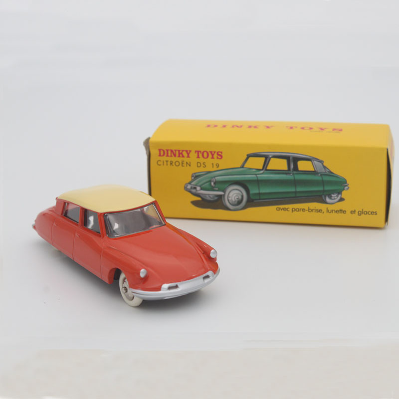 1:43 Atlas Dinky Toys 24CP 24C Citroen DS 19 Diecast Toy Vehicles Hobbies Models cars OrangeRed(China (Mainland))