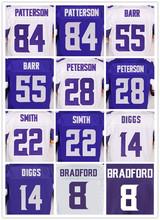 Men's 8 sam 84 Cordarrelle 55 Anthony 22 Harrison 28 Adrian 14 Stefon 11 Laquon 26 Trae White, purple elite jerseys(China (Mainland))