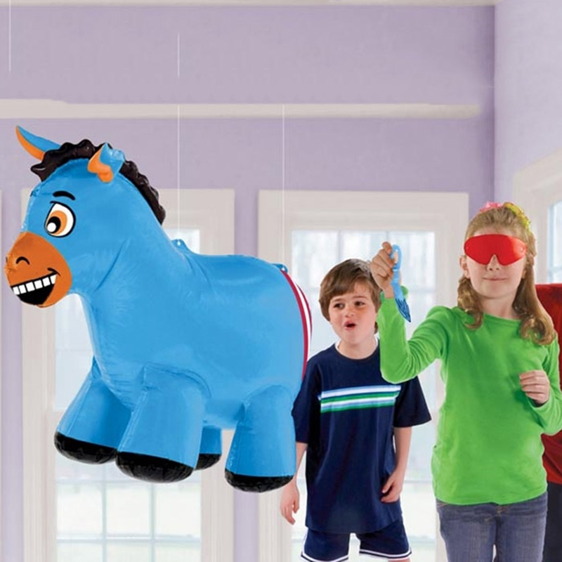 Pin The Tail On Donkey Game Inflatable Party Decoration Blow up Inflatable Donkey Toy for Kids Birthday Party Supply(China (Mainland))