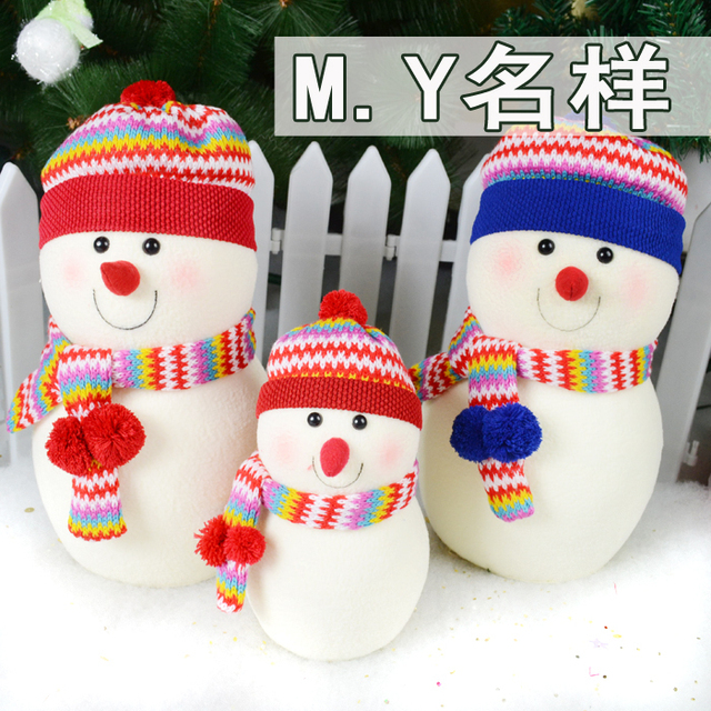New arrival Indoor Christmas Table Decoration Snowman family
