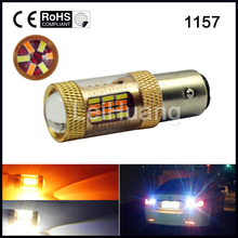 Buy 2Pcs DUAL COLOR SWITCHBACK WHITE 1157 3014SMD 54 LED AMBER TAIL BRAKE SIGNAL LED LIGHT BULB for $8.97 in AliExpress store
