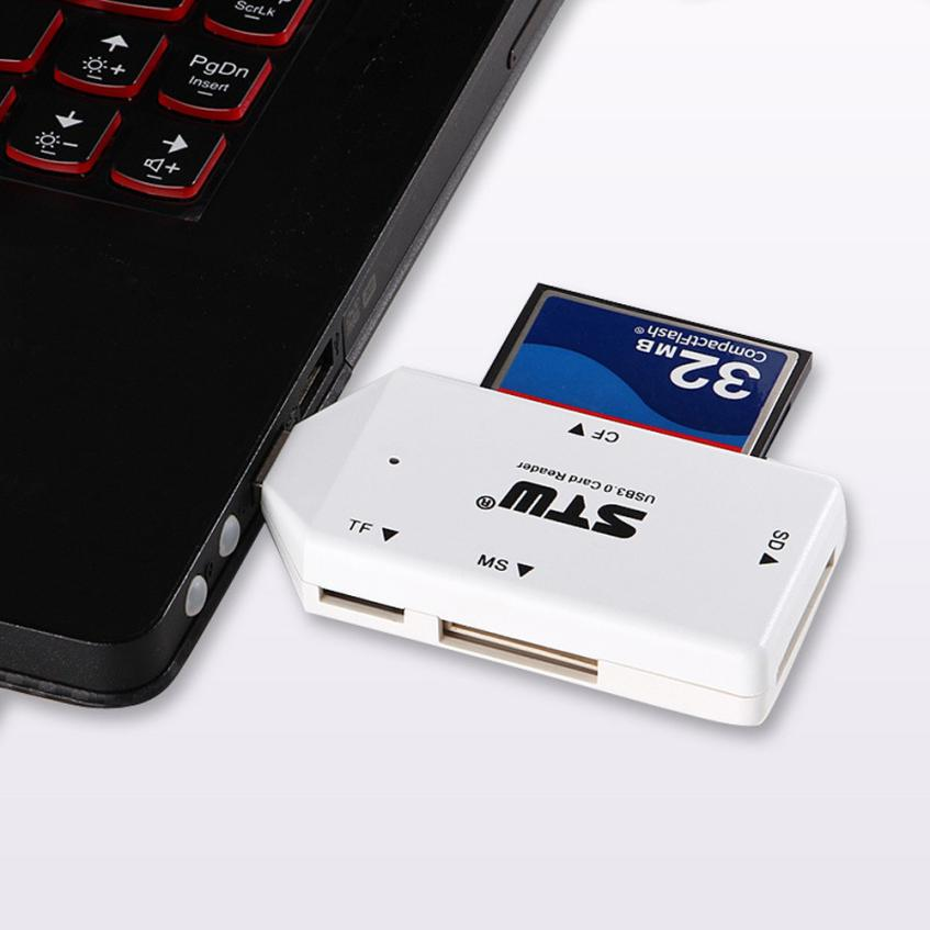 Hot Sale 5Gbps USB 3.0 All in 1 SD TF CF MS Flash Memory Card Reader Adapter<br><br>Aliexpress