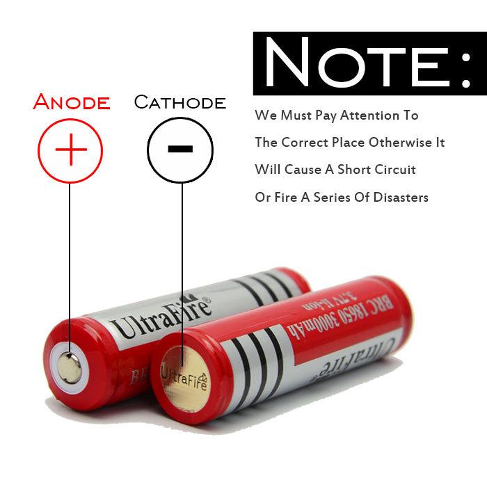 Whloe Sales100pcs/lot Original protected 18650 3.7V 3000mAh For led Flashlight batteries rechargeable Battery(China (Mainland))