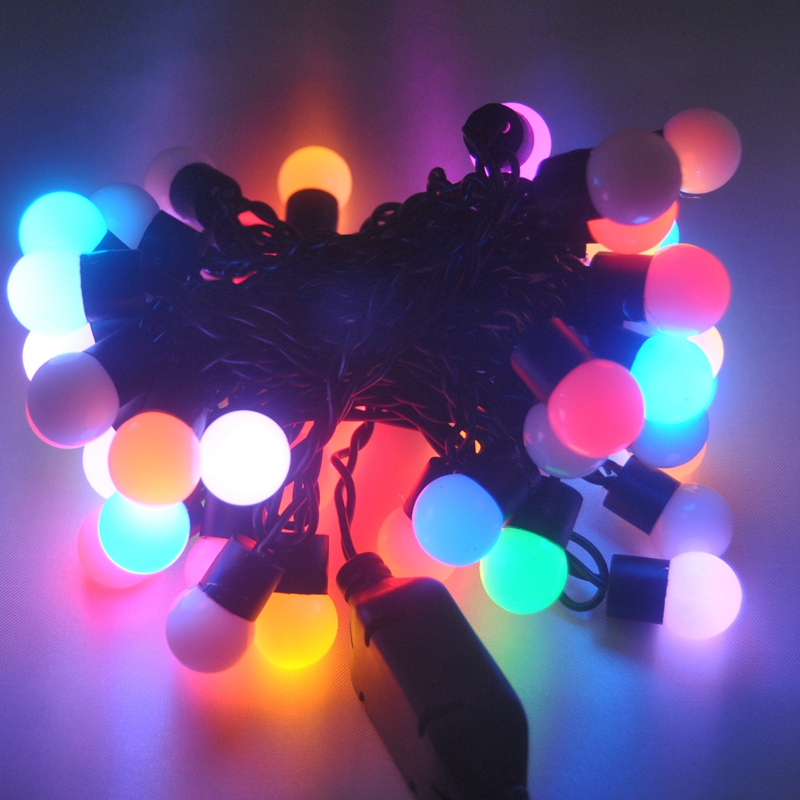 Colorful String Lights : Holiday Lighting Christmas Colorful Garland String AC 220V Lamp Guirlande Lumineuse Outdoor ...