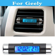 Buy Car Thermometer Clock LCD Clip-on Digital Clock Calendar Geely Emgrand X7 Beauty Leopard CK, Otaka Emgrand EC7 Emgrand EC8 for $5.50 in AliExpress store