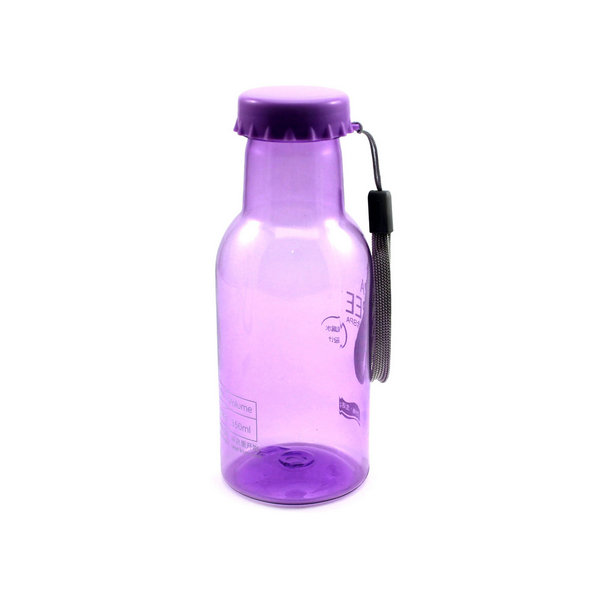 Purple Portable Leak-proof Unbreakable Sport Travel Cycling Water Cup Soda Bottle 350ML 1Pc - isfang store