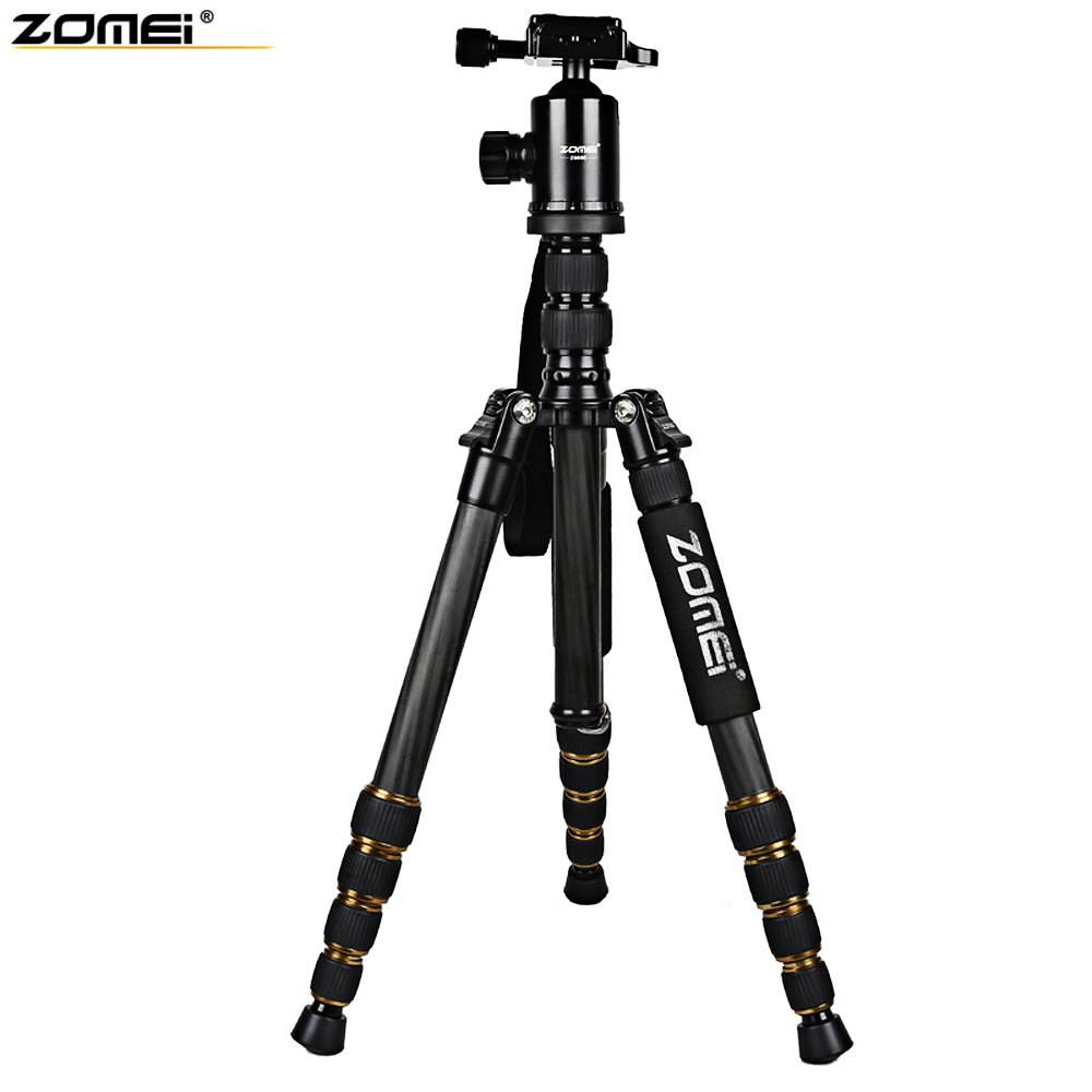 Free Shipping Good Product Zomei Z699C 59.4 Inches Lightweight Professional Camera Video Carbon Filter Tripod with Bag(China (Mainland))