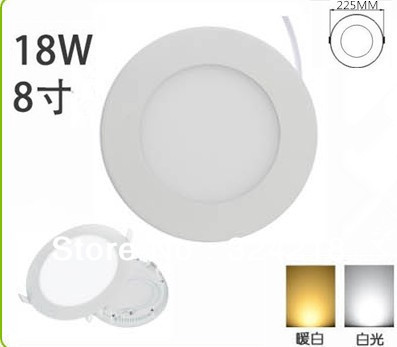 Flat ultra thin 18W 20W Led Ceiling panel light + LED driver with 90pcs 2835 SMD Round lamp CE RoHS x 12pcs - ship by express(China (Mainland))