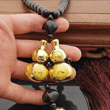 Car Double Gourd Gold Plating Pendant Ornaments Adornment Auto Furnishing Articles Accessories For Safe Driving Lucky Blessing(China (Mainland))