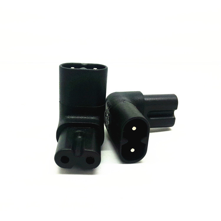 Angled IEC 320 C8 2P Male C7 female Socket Adapter CE Reached  -  DS-ali2015 store