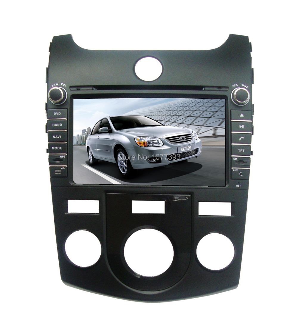 Noir Koup 8 '' voiture lecteur DVD GPS pour ( manuel ) KIA Cerato Forte Koup Shuma avec iPod TV BT Radio CE / ROHS / FCC certifié + 4 Gmap(China (Mainland))