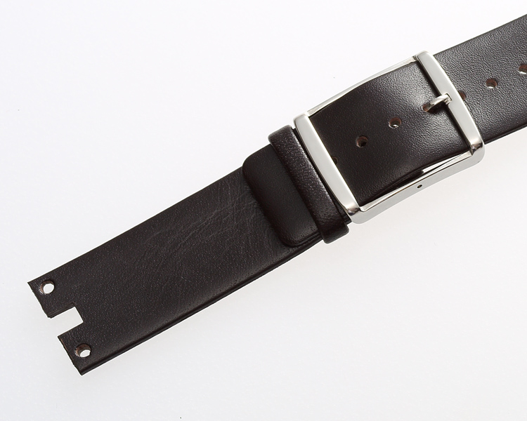 MAIKES New Fashion Watchband Soft Durable Black Thin Genuine Leather Watch Strap Band Bracelet Case For CK Calvin Klein