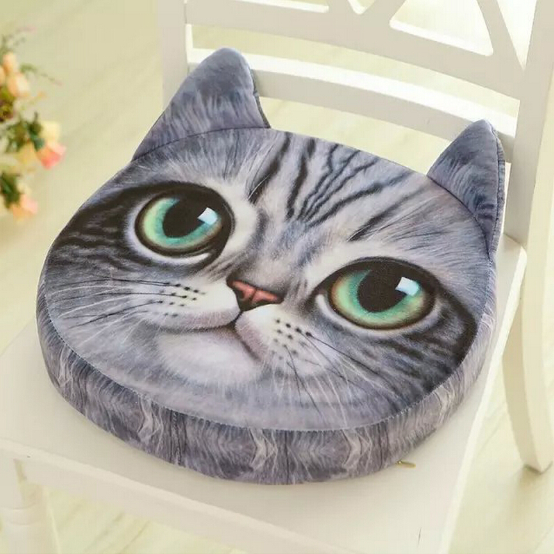 Realistic cartoon cushion pillow cushions plush toys stumps Star who meow kitty cat face foam pad washable home decoration mats(China (Mainland))