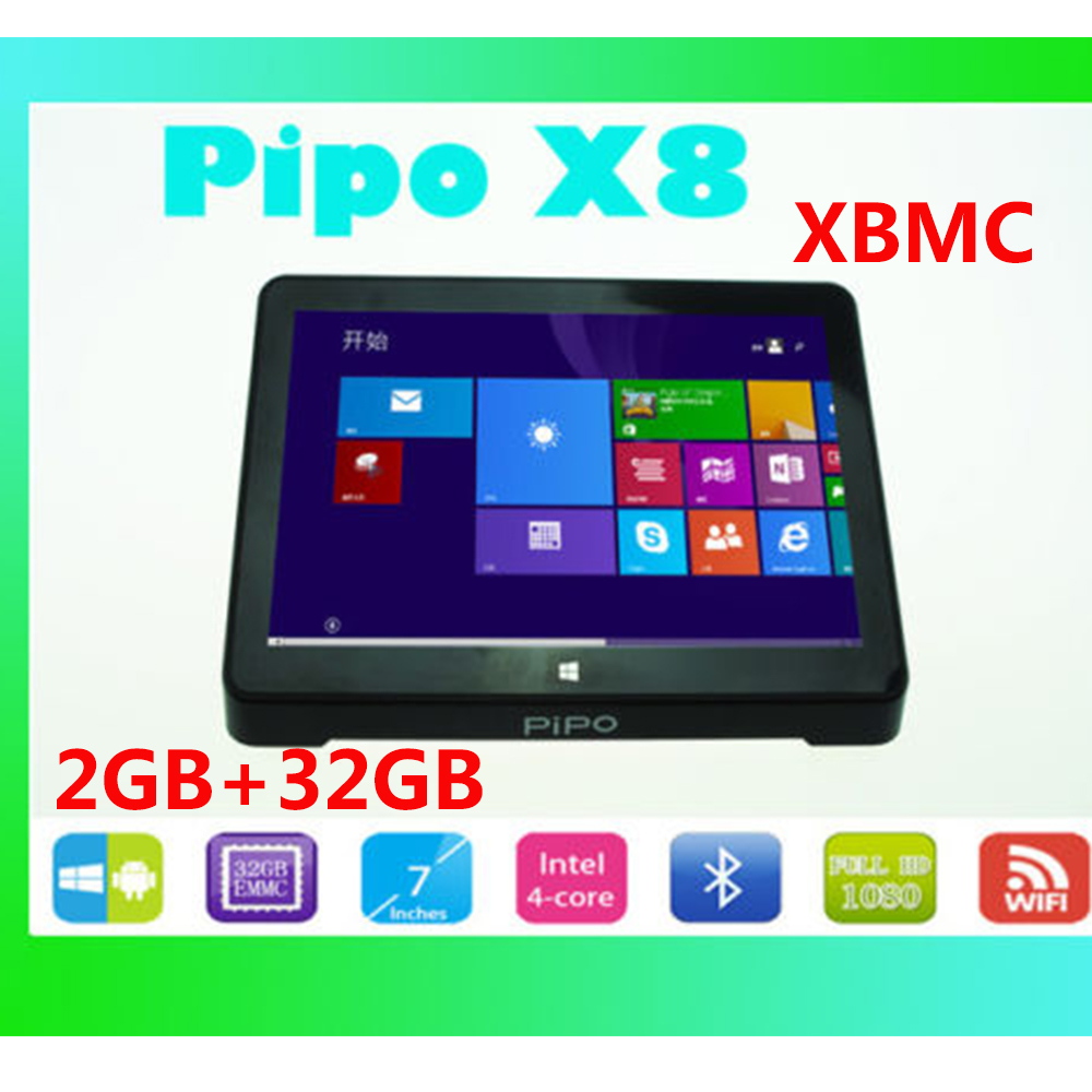 2GB/32GB Windows 10+Android 4.4 Dual OS 7 Inch Screen PIPO X8 MINI PC Tablet Computer Z3736F (Quad-Core) Touch Panel PC TV Box(China (Mainland))