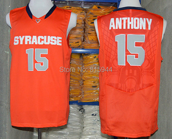 College Syracuse Orange #15 Camerlo Anthony ncaa basketball jerseys mix order free shipping